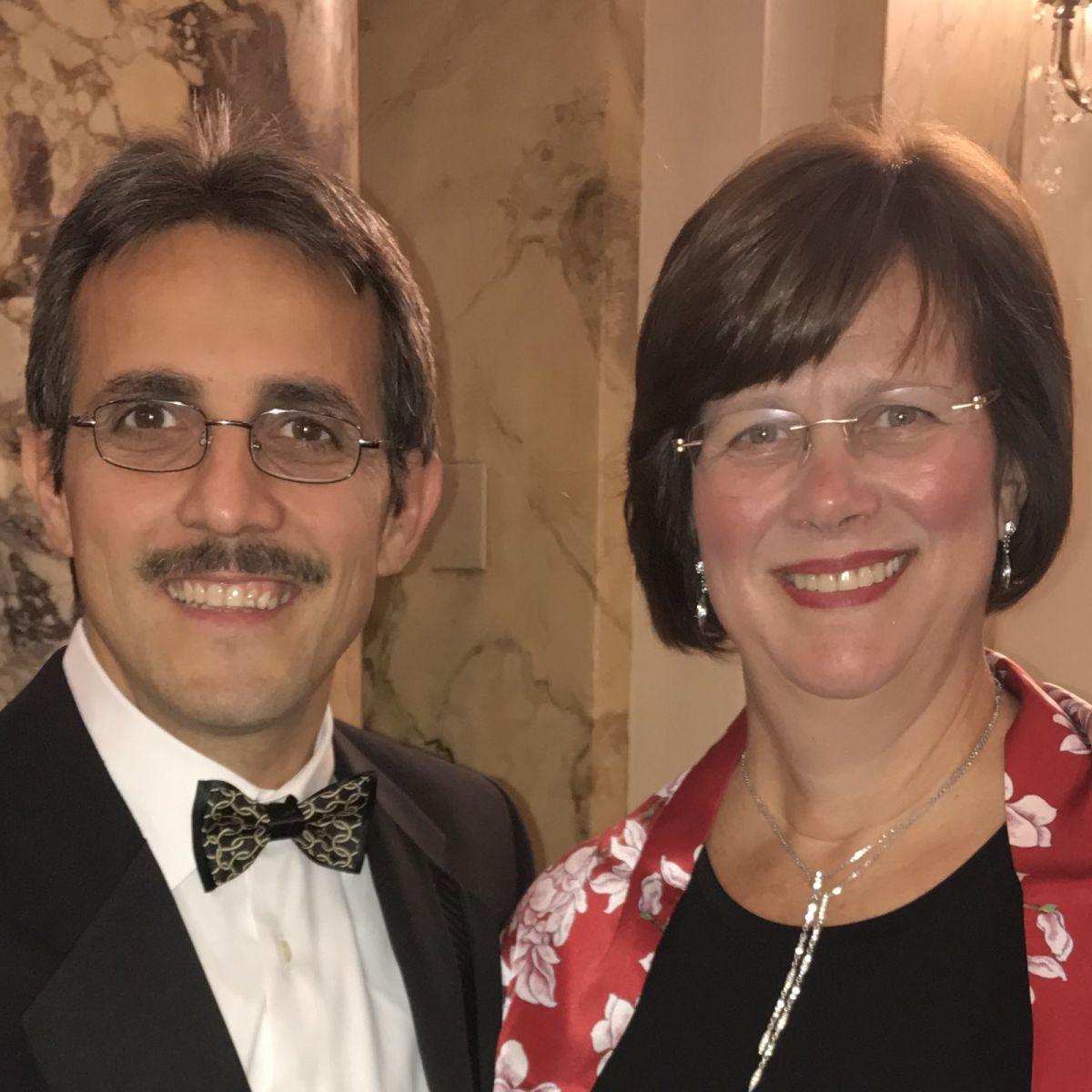 Demetrios G. Vavvas, MD, PhD (R) and Joan Miller, MD (L)